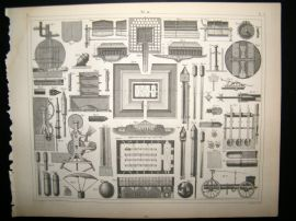 Military 1857 Antique Print. Machines of War 40